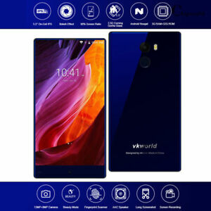 "Bezel-less 5.5"" Vkworld Mix Plus Android 7 Phone Dual SIM 3GB + 32GB 4G Touch ID"