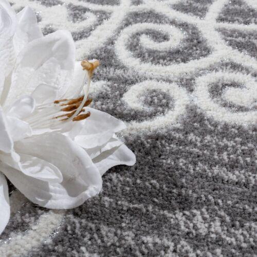 moderne gris argente tapis floral design doux chambre tapis de sol small x large maison tapis alfa bau gmbh de