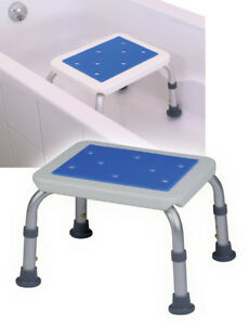 details sur marche pieds tabouret pour baignoire 2 en 1 herdegen blue seat