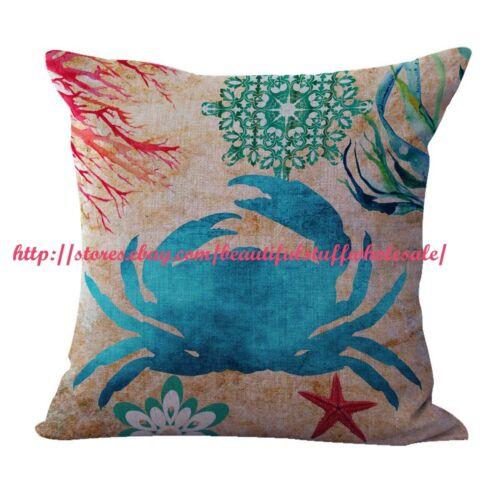 us seller 4pcs zippered throw pillow covers cushion covers seashell starfish home decor home decor pillows