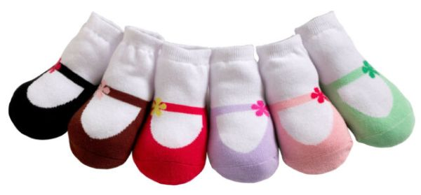 So Cute! Jazzy Toes Socks- Mary Jane's Set of 6 Pair- Size ...