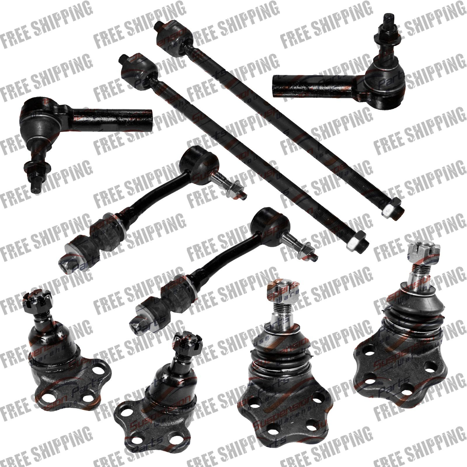 2wd Front Steering Kit Tie Rod End Ball Joints Stabilizer