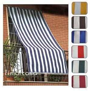 Clicca sulle foto per ingrandire. Tenda Da Sole Per Esterno In Tessuto Fasciato Resistente Con Anelli Ebay