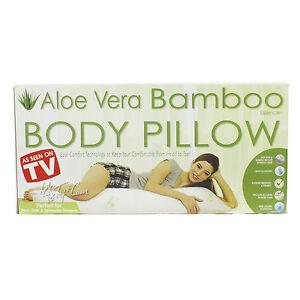 details about new aloe vera bamboo cool comfort tech body pillow memory foam bodypillow 299