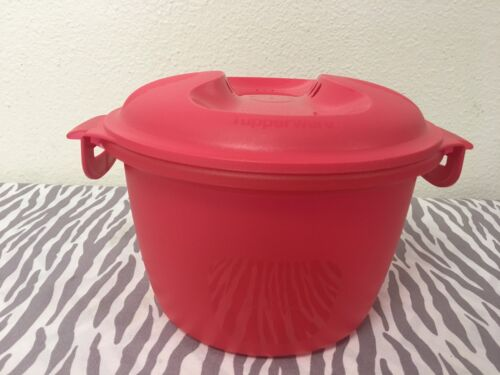 coral 2 quarts new tupperware microwave rice cooker steamer red kitchen home other plastic containers