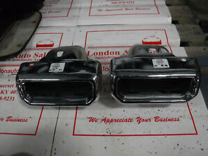details about factory oem used 2019 chevrolet silverado gmc sierra 1500 exhaust tips pair