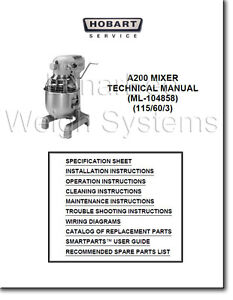 Hobart A200 Mixer Replacement Parts | Reviewmotors co