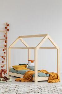details sur lit cabane enfant bebe 60x120cm 160x200cm scandi maison 29 dimensions bois