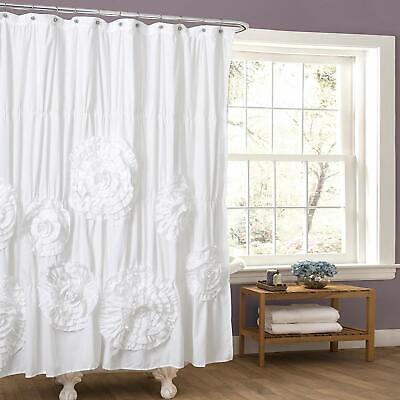 lush decor avery shower curtain ruffled