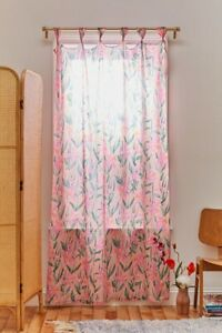 details about urban outfitters padma floral knotted window panel curtain one panel 52x84