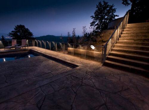 10x black 12v 35mm led deck step stair fence lights wifi controller dimmer timer landscape walkway lights home garden