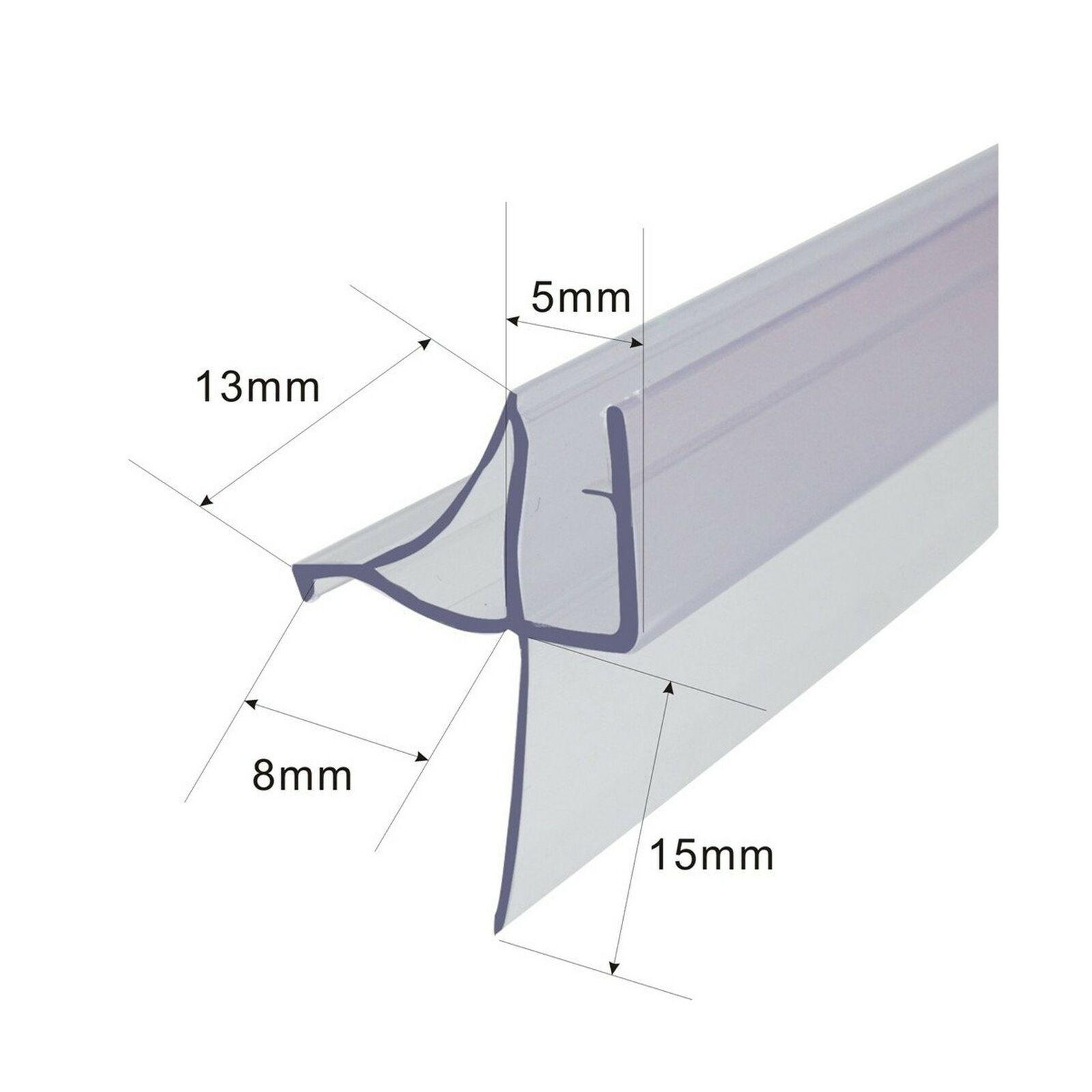 Frameless Shower Door Bottom Seal For 3 16 Inch Glass 36 Inch Long Vinyl Cl
