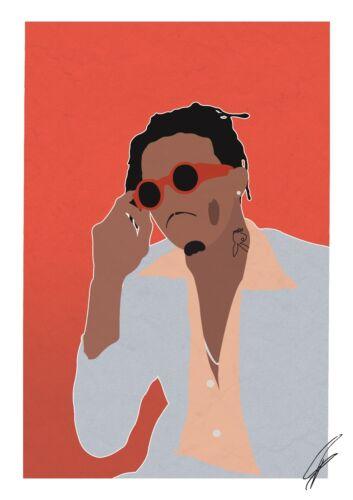 poster minimal a4 a3 hip hop rap playboy playboi carti inspired wall art print art posters art