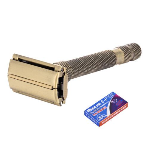 New-7-Gears-Adjustable-Razor-Brass-Men-Shaving-Safety-Razors-Classic-Double-Edge