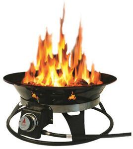 Outland Firebowl Cypress 21 in. Steel Portable Propane ... on Outland Firebowl Propane Fire Pit id=48995