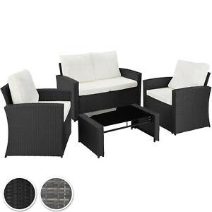details sur salon de jardin mobilier en resine tressee 4 places canape 2 fauteuils 1 table