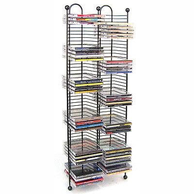 100 cd tower rack metal holder media storage disk case display space organiser ebay