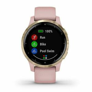 Garmin vivoactive 4S Dust Rose and Light Gold GPS Smartwatch 010-02172-31
