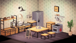 Modern Ironwood Kitchen + Decor! - Animal Crossing New ... on Ironwood Kitchen Animal Crossing  id=34242