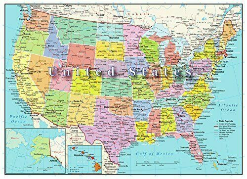 C a lifo rn ia. United States Of America Map 1000pc Jigsaw Puzzle Highways Rivers State Capitals For Sale Online Ebay