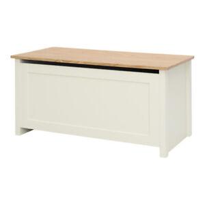 details about wooden storage ottoman chest bedroom blanket bedding organizer box trunk bench