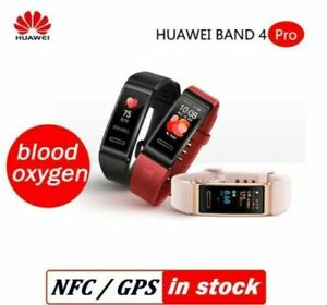New HUAWEI Band 4 PRO GPS blood oxygen Heartrate NFC Bluetooth 5.0 Smartwatches