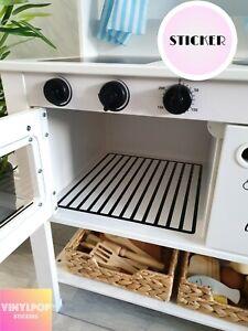 details about toy play kitchen oven rack vinyl sticker suit ikea spisig kitchen