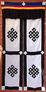 tibetan cotton open split door curtain