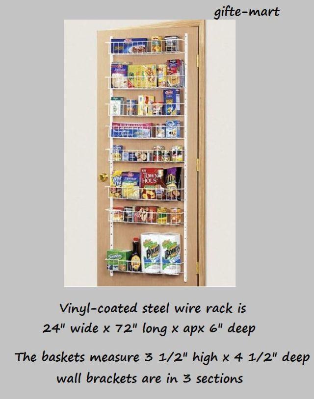 ADJUSTABLE shelf Door wall mount food pantry storage spice rack can organizer 2