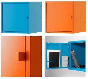 details sur ikea lixhult armoire murale armoire home office storage living metal deux couleurs afficher le titre d origine