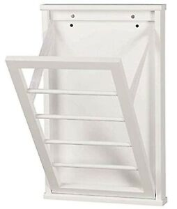 details about wall mounted clothes drying rack for laundry room small white 14 x22