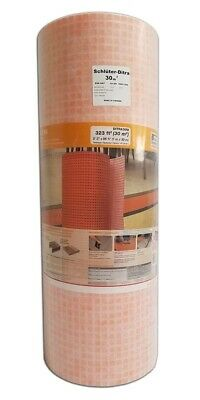 schluter ditra 30m uncoupling floor membrane 323 ft roll 1 8 tile underlayment ebay