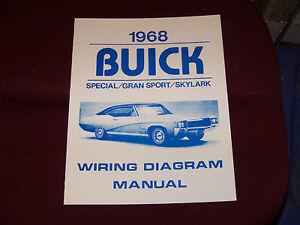 68 BUICK WIRING DIAGRAM MANUAL GS SKYLARK SPECIAL 1968 NEW GRAN SPORT | eBay