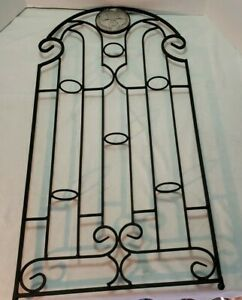 Black Wrought Iron Hanging Wall Sconce Candle Holder 6 ... on Black Wrought Iron Wall Candle Holders id=49729