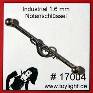 Piercing Industrial - Notenschlüssel - Clef - #17004