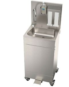 details about acorn portable stainless steel hand wash station sink new foot operated