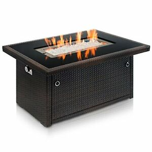 Outland Living Series 401 Brown 44-Inch Outdoor Propane ... on Outland Gas Fire Pit id=72200