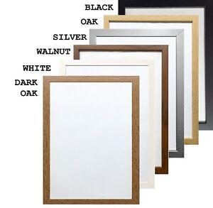 details about a1 a2 a3 a4 a5 a6 black photo frame white picture frame oak poster frames walnut