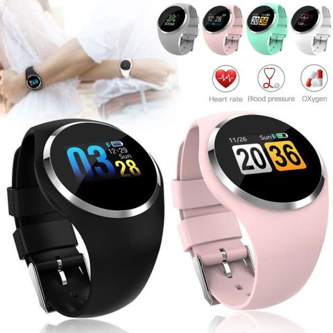Bluetooth Heart Rate Smart Watch Wrist Waterproof APP Phone Mate Android IOS US 4