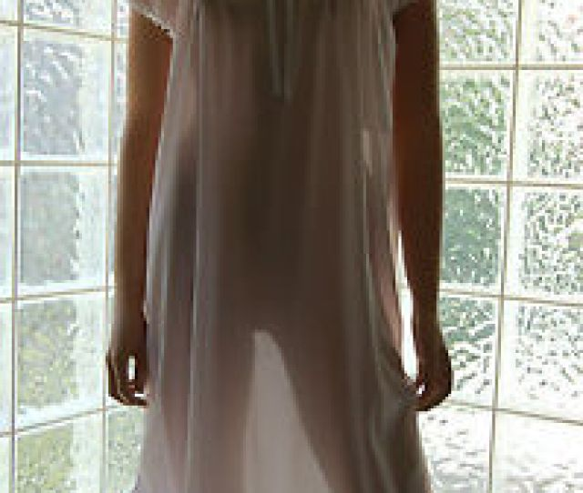Image Is Loading Vintage Soft Sheer Nylon Nightgown In Colors Amp