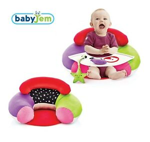 details about babyjem baby sit play activity seat pillow cushion art 486