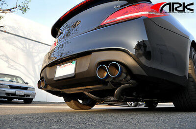 10 on ark performance dt s exhaust for hyundai genesis coupe 3 8l w burnt tips ebay