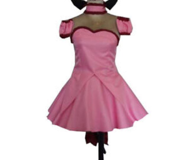 Image Is Loading Tokyo Mew Mew Power Zoey Pink Dress Cosplay