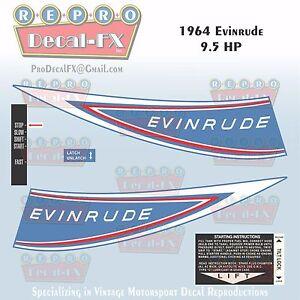 Evinrude 9 5 Hp Sportwin Outboard Repro 6 Pc Marine