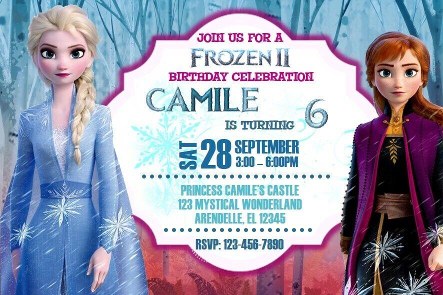 frozen 2 birthday party invitation printable