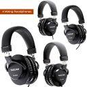 2 Pairs TASCAM TH-MX2 Close Back Recording Mixing Home Studio Headphones- Black