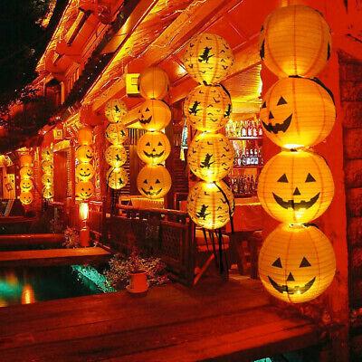 Happy Halloween Paper Pumpkin Hanging Lantern Diy Holiday Party Decor Scary Uk Ebay