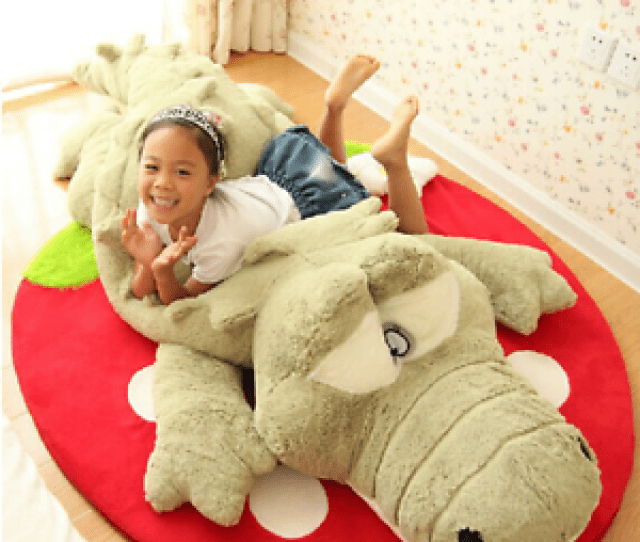 Image Is Loading Giant Soft Crocodile Toys Kids Pillow Bed Huge