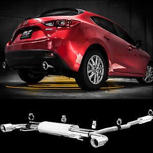 details about magnaflow cat back dual exhaust system 2014 2018 mazda 3 2 0l 2 5l hatchback
