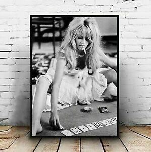 details about brigitte bardot poster brigitte bardot playing cards vintage photo wall art